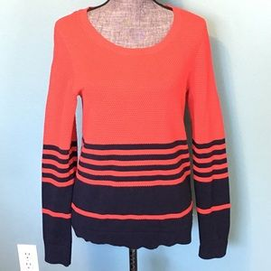 Tommy Hilfiger Sweater Pullover Red Blue Medium